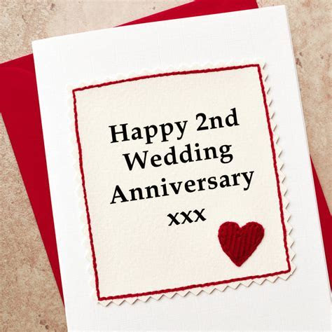handmade 2nd wedding anniversary card by jenny arnott