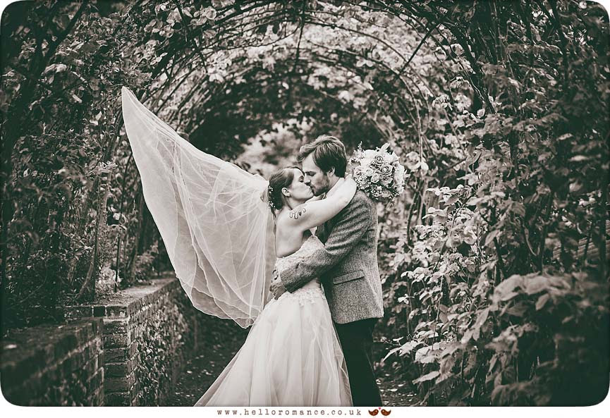 Modern black & white wedding photo taken at Barrandov Opera, Suffolk wedding venue, 2015 - www.helloromance.co.uk