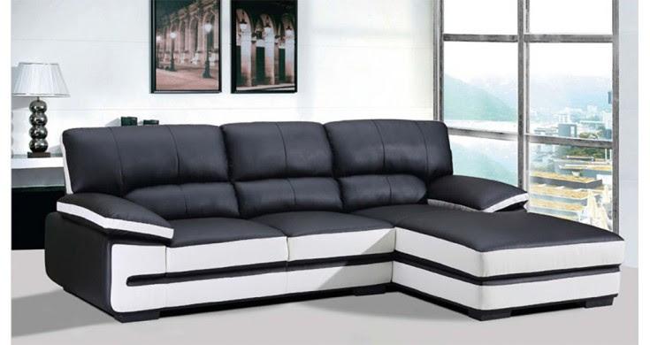 Black And White Leather Sofa - interior design ideas