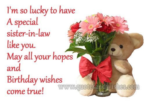 Birthday Wishes For Sister In Law Messages Quotes Wishesmsg