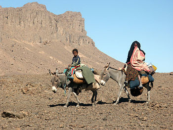 English: Picture of tuareg nomads in the south...
