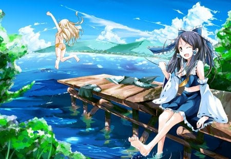 55 Top Summer Anime Background Summer Background