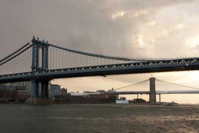 Manhattan Bridge, sunset