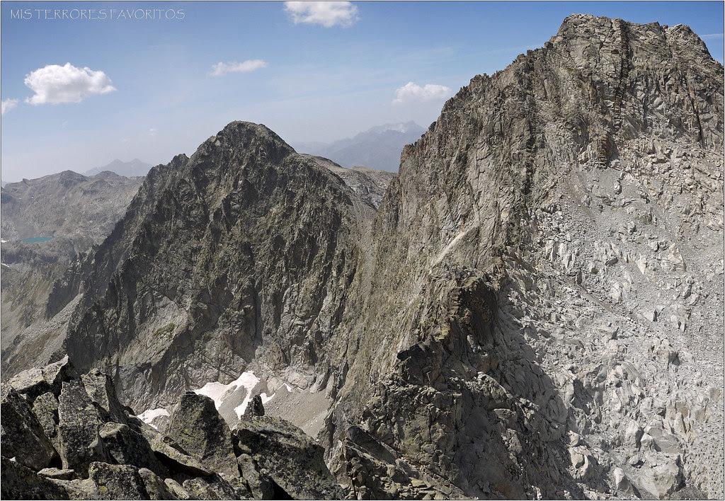 TRÉS CONSEJEROS Y NEOUVIELLE DESDE LA CUMBRE DEL RAMOUGH 3011 m