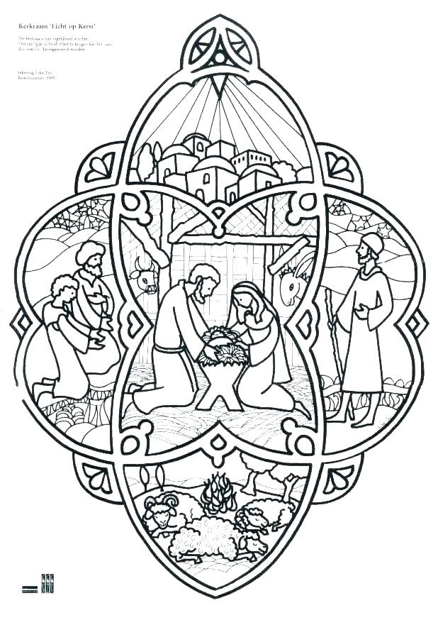Simple Nativity Coloring Pages at GetColorings.com | Free ...