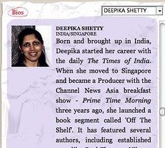 Singapore Writers Festival - Deepika Shetty