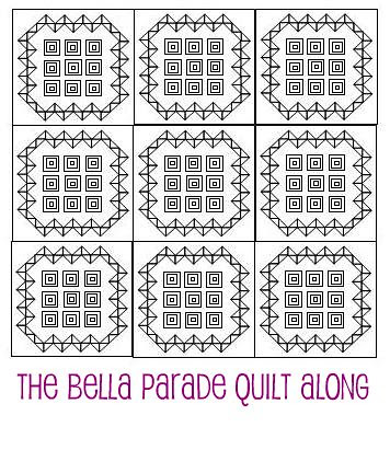 Bella Parade - Tiled Quilt Sketch by A Blond Quilts