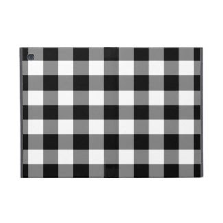 Black and White Gingham Pattern iPad Mini Cases