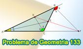 Problema de Geometría 133. Triangulo, Dos Bisectrices Interiores, Bisectriz Exterior del 3er Angulo, Puntos Colineales.