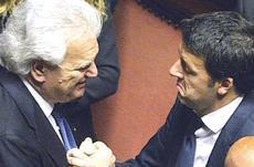 Renzi con Verdini, già patron di Banca Etruria