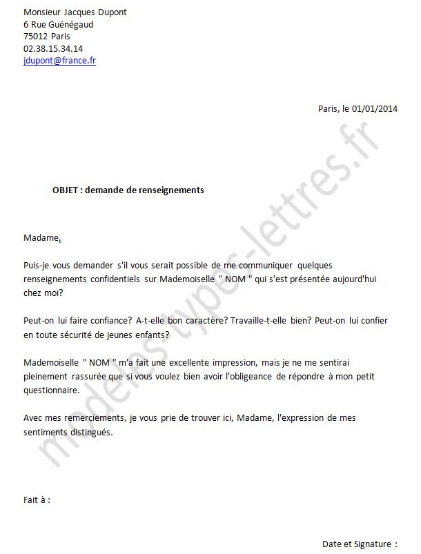 Lettre Demande D'emploi Interim   Employment Application