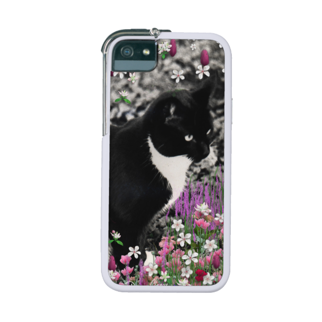 Freckles in Flowers II, Tuxedo Kitty Cat Cover For iPhone 5