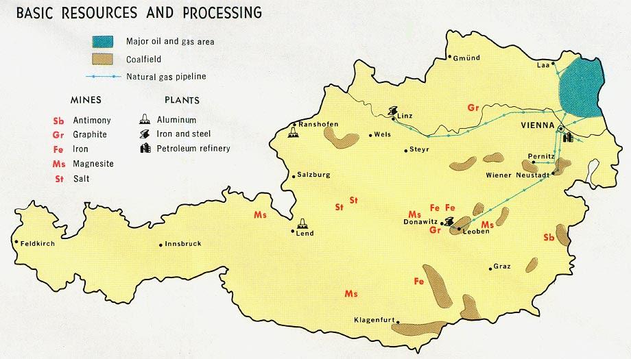 Resultado de imagen de Austria map cia