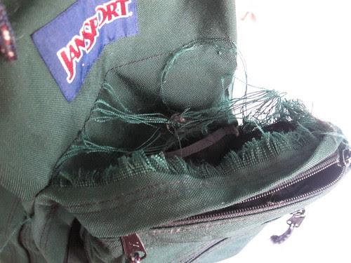Shredded Front Pocket