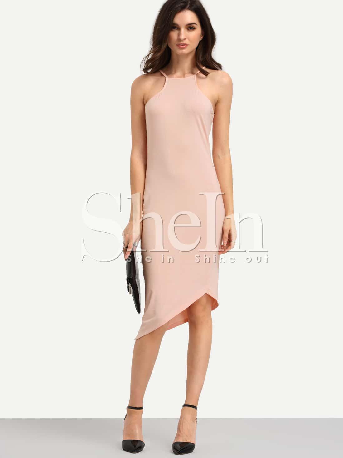 Emporium Zipper Side Scoop Neck Asymmetric Hem Maxi Dress xhilaration north style