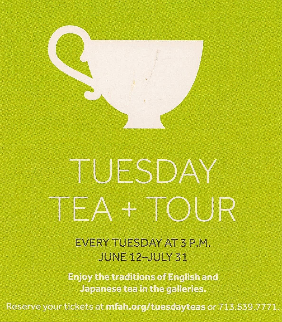 Tuesday Tea And Tour