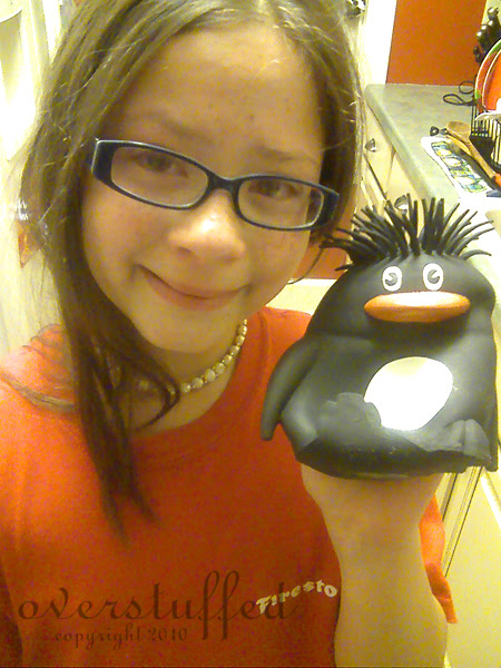 Bria and the penguin