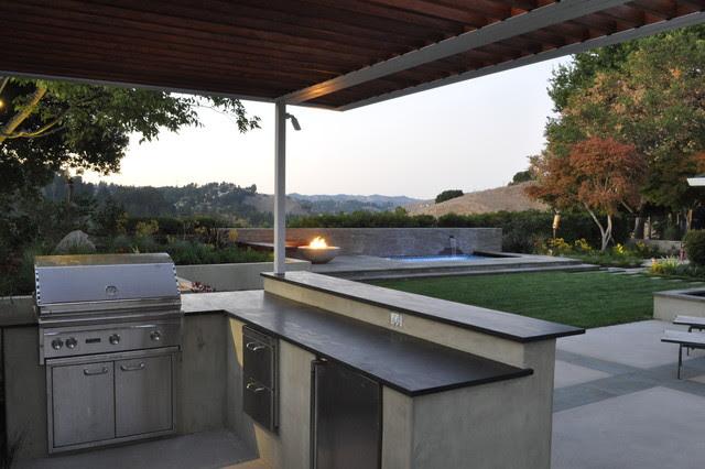 outdoor kitchen - Contemporary - Patio - San Francisco ...