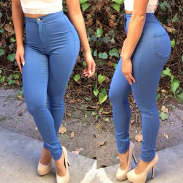 Curvy girl high waisted jeans stone