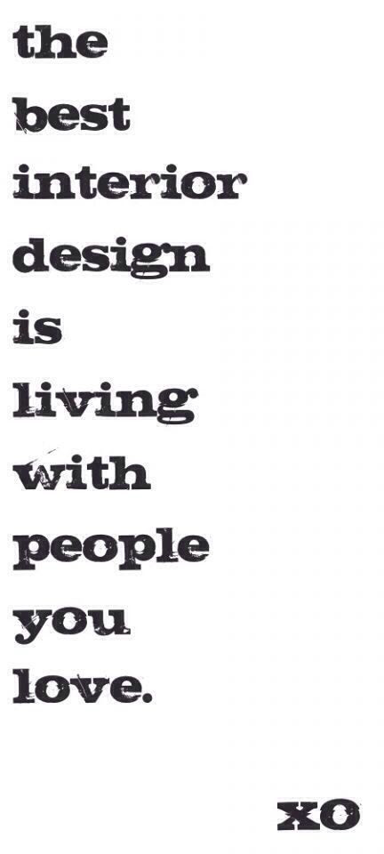 Interior design | quote of the day | Pinterest