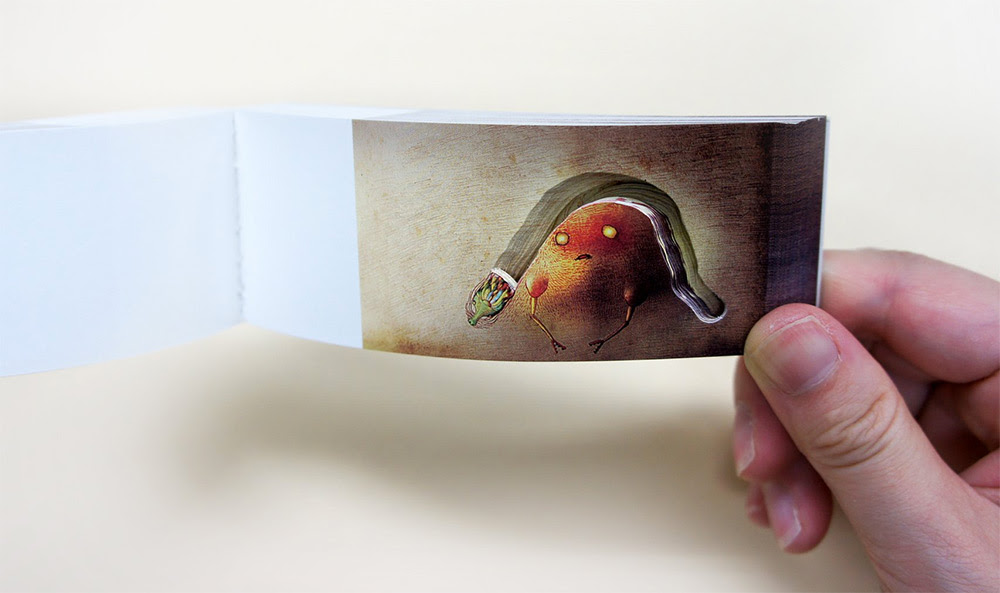 Amazing Little Flip Books Use Negative Space and Secret Compartments flipbook books
