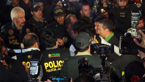 Ollanta Humala durante su traslado a la carceleta del INPE.
