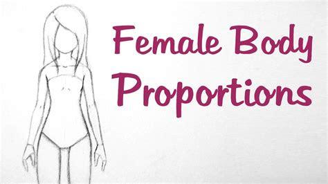 draw manga female body proportions youtube