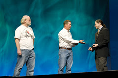 """Jonathan Schwartz, Scott McNealy and James Gosling, General Session """"Java: Change (Y)Our World"""" on June 2, JavaOne 2009 San Francisco"""