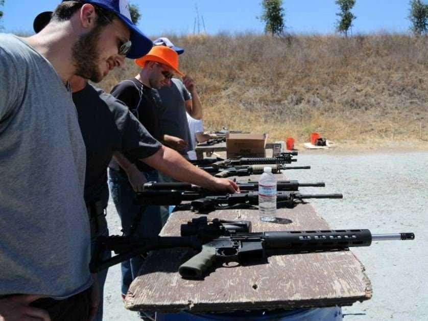 With Mike Hudack and Boz at Metcalf Shooting Range.