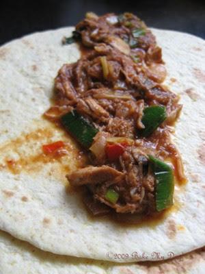 pulled pork tortilla