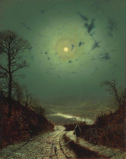 Claro de luna, 1871, John Atkinson Grimshaw