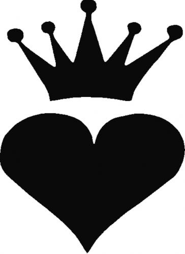 Tag Adhesive Stencil Heart Crown Glitter Tattoos Airbrush Tattoos