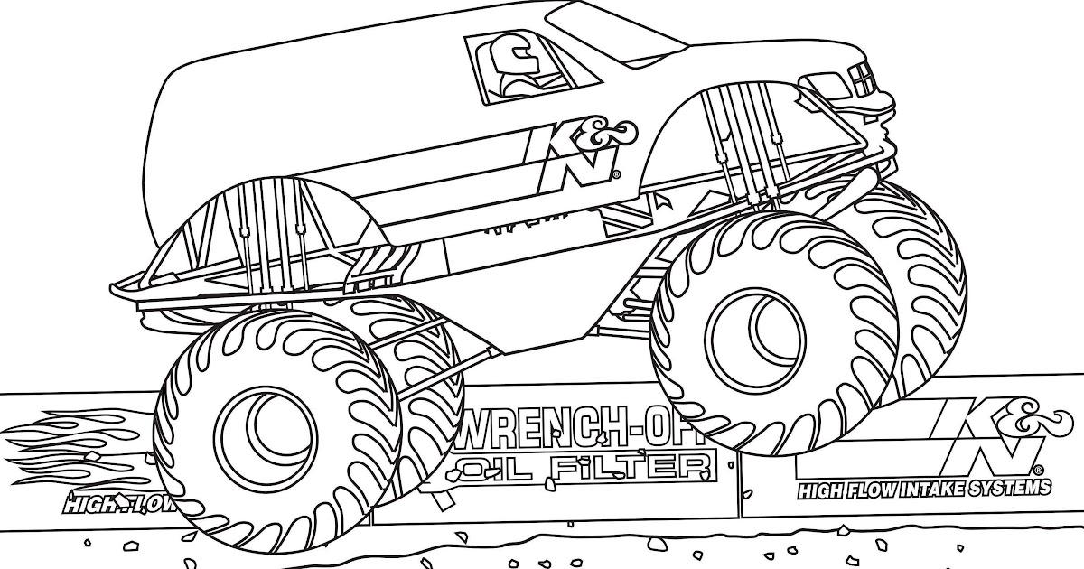 monster truck ausmalbilder zum ausdrucken  vorlagen zum