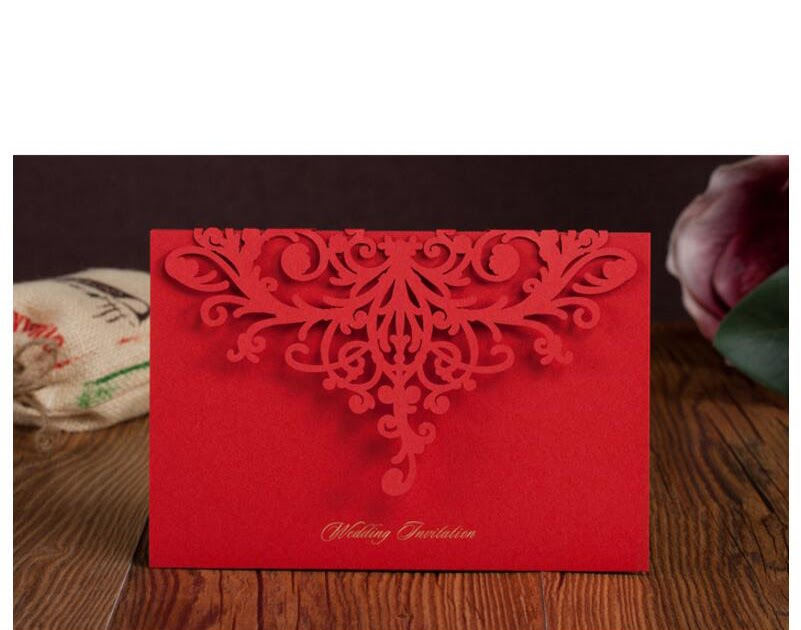 Best Place To Buy Wedding Invitations Online: Buy Best 50pcs Pack Laser Cut Wedding Invitations Cards
