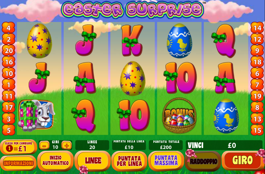 Easter surprise slot machine online playtech mahoning