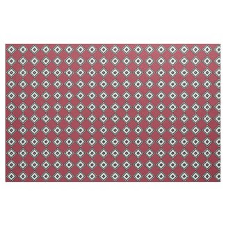 Black and White Diamonds on Red Fabric