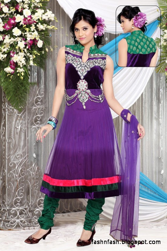 Anarkali Fancy Frocks-Indian-Pakistani Anarkali Umbrella Frocks New Latest Collection Dress Designs-4