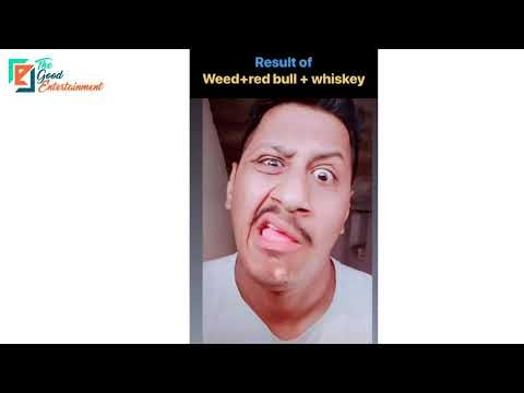 Effect of Weed+Red bull+Whiskey😂 | Saste nashe ki effect | Funny Video