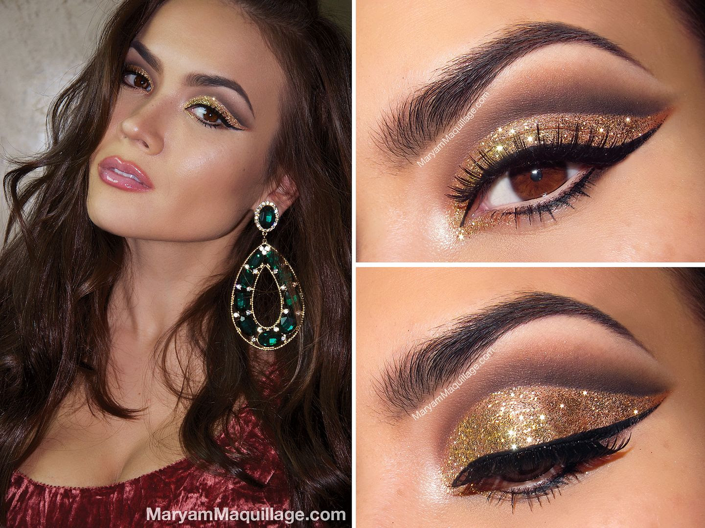Disco Ball Glitter Makeup For Nye