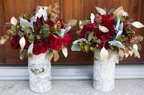 birch wedding centerpieces, burgundy gold birch wedding