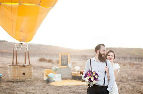 Hot Air Balloon Wedding Theme   BravoBride