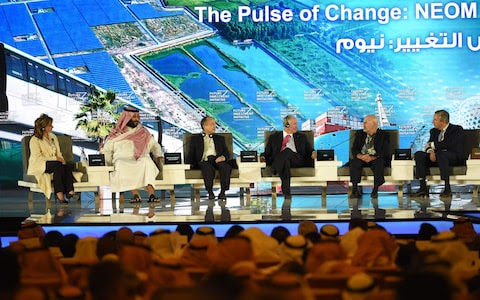 The prince made the announcement at an investor conference in Riyadh