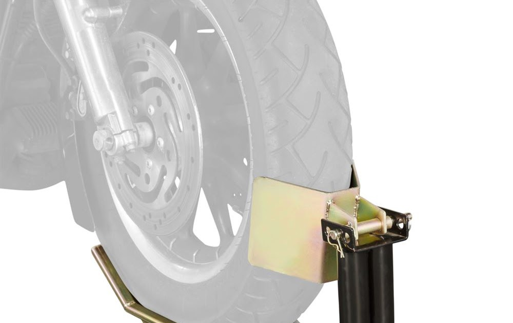 Black Widow Deluxe Motorcycle Pivot Locking Wheel Chock