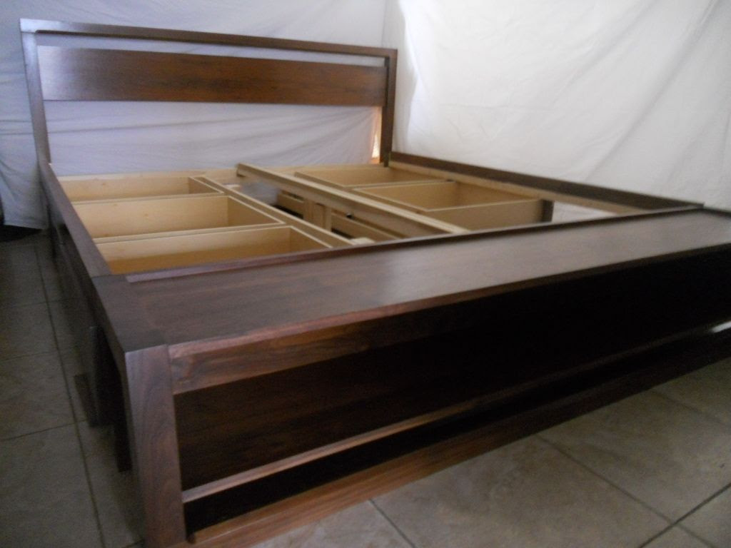 Handmade King Size Bed Frame With Storage And Bench On ...