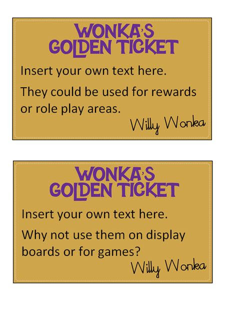 1000+ ideas about Golden Ticket Template on Pinterest | Willy ...