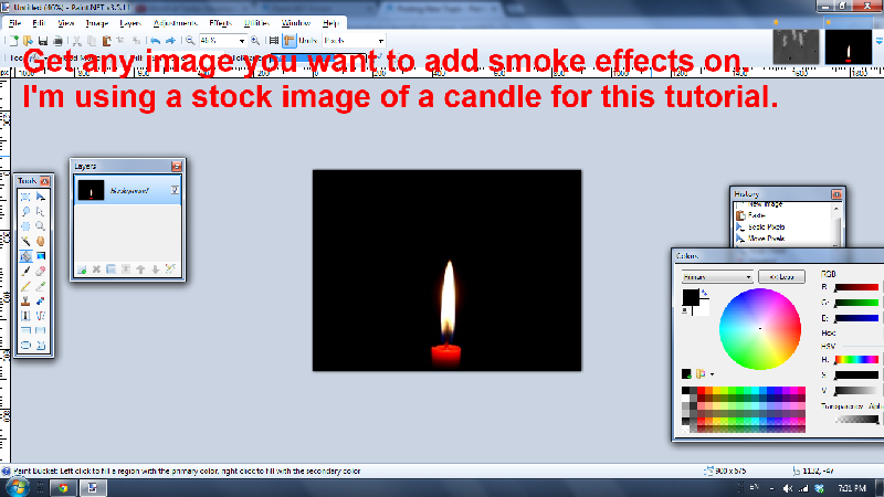 Smoke Effects No Plugins Beginner Tutorials Paintnet Forum
