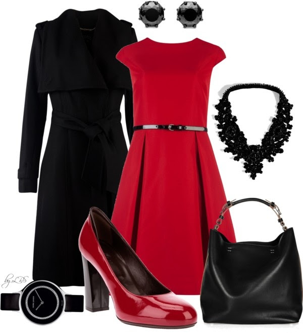 """Black & Red"" by fantasy-closet ❤ liked on Polyvore"