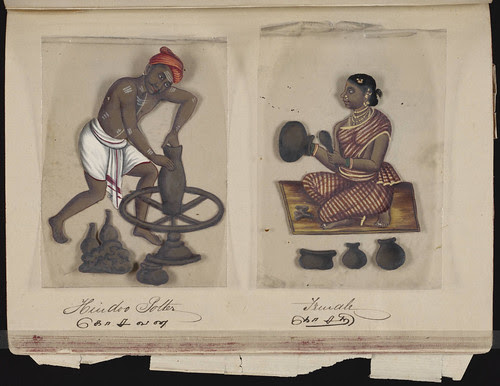 Hindoo potter - Female, Madura, 1837