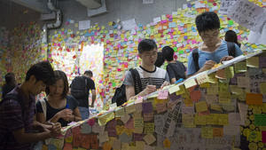 Related story: In Hong Kong, a tale of two sit-ins -- gritty and intellectual