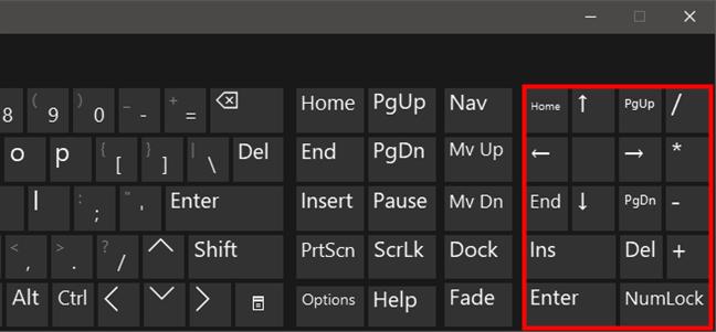 Botones especiales en el teclado virtual de Windows 10